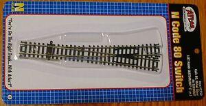 Atlas N #2752 Custom Line #6 Switch -- Left Hand, Black Ties (Code 80)