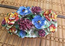 Capodimonte Handmade Vintage Centerpiece Flower Display 3x5 Made In Italy