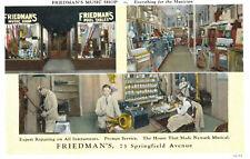 Newark,N.J.Friedman's Music Shop,3 Views,Bands,Instruments,c.1909