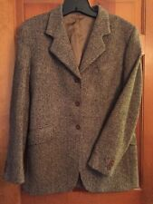 Magee 1866 Womens Handwoven Donegal Tweed Brown Camel Flecked Made in Ireland