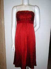 BANANA REPUBLIC Red SILK Formal Strapless Sheath Dress Gown sz. 0 S new