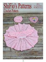 CROCHET PATTERN BABY DRESS & BERET  0-3, 3-6 & 6-9mths #13 NOT CLOTHES