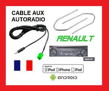 CABLE AUXILIAIRE MP3 AUTORADIO + CLE EXTRACTEUR RENAULT KANGOO MODUS TRAFIC