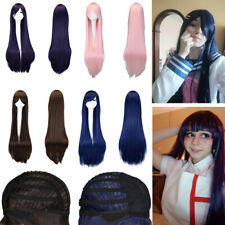 100cm Long Straight Cosplay Wig 4 Colors heat resistant For Women Full Wigs
