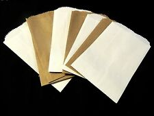 350 Mini Kraft and White 3x5 Inch Bags, Goodie Paper Favor Bags, Gift Card Bags