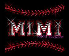 MIMI - Baseball Stitch Rhinestone Iron on Transfer Hot Fix Bling Stitching Sport