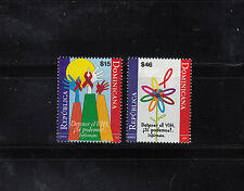 Dominican Republic 2010 Aids Day  Sc 1491-1492  mint never hinged