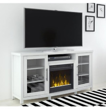 "White Electric Fireplace Up to 65"" TV Stand Heater Mantle Entertainment Center"
