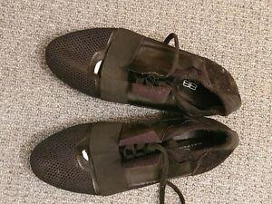 Balenciaga Mens Shoes Trainers Sneakers Size Uk 9 Eu 43 Black Leather ,