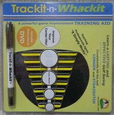 Trackit-N-Whackit Dvd And Decals Golf Training Aid New (Bin 19)