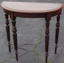Beautiful Victorian Half Moon Walnut Entry Table - VGC - GORGEOUS CARVED DETAILS