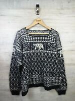 vtg Coogi Cosby Style  Nordic Wool  sweater jumper refA21 Large /XL