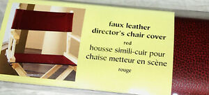 Pier 1  Imports Director's Chair Replacement Faux Leather Red New In Package
