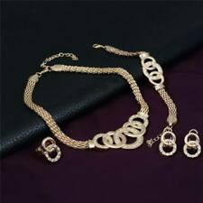 Ladies Plated Necklace Earrings Bracelet Ring Evening Party Jewelry Sets Gift P3