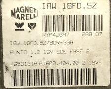 Calculateur moteur FIAT PUNTO 1.2 16V IAW 18FD.5Z 46531218 61600.404.00