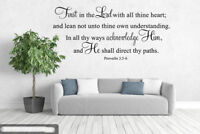 Proverbs 3:5-6 Bible Verse Vinyl Wall Stickers Decals Scripture Quote Word Decor
