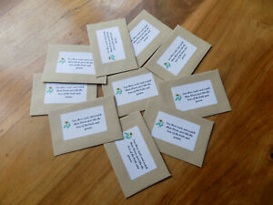 10 packs of 10 sunflower seed wedding party favours