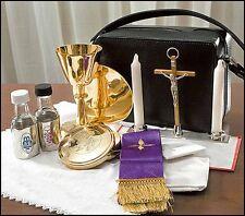 Travel Mass Kit, Includes Chalice,  Paten, Pyx, Crucifix Zipped Case (EC509)