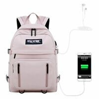 Waterproof Women USB Backpack School Bag for Teenager Girl Travel Laptop Bagpack