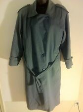 London Fog Womens Size 6 Vintage Green Belted Trench Coat With Removable Liner
