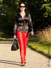 Lederhose Leder Hose Knalleng Rot Maßanfertigung