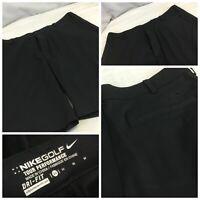 Nike Golf Tour Perf Shorts Sz 32 Black Dri-Fit Flat Front Worn Once YGI H9-236