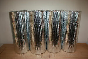 Double Foil Bubble Insulation, floor wall caravan shed loft 20m2 Free UK P&P