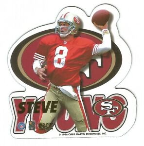 1996 NFL DIE-CUT MAGNETS #5 ~ STEVE YOUNG #8 ~ SAN FRANCISCO 49ERS ~ NEW SEALED