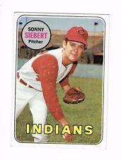1969 TOPPS BASEBALL CARD # 455 SONNY SIEBERT INDIANS PITCHER