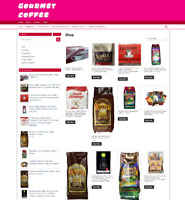 GOURMET COFFEE UK WEBSITE-FULLY STOCKED- NEW DOMAIN-1 YEARS HOSTING
