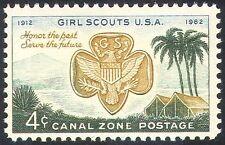 Zona del canal 1962 Girl Scouts USA/50th/Guías/Guía/Palmeras/tiendas de campaña 1v (n23987)