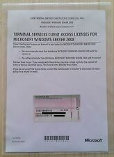 5er CAL USER (Benutzer) für Windows 2008 Terminal Server / RDS Remote Desktop