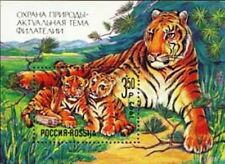 Russia 1992 MNH MS, Siberian Tiger, Wild Animals, Nature Preservation (On4)