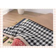 FUTON Kotatsu Table Square Comforter Black&White Checkered KK-153WH Azumaya NEW