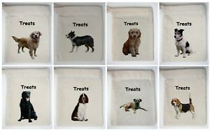 Cotton Dog Treat Bag Just add your own Treats Breeds from Akita to Great Dane
