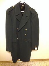 Vintage Elson Swedish Army Military Wool Long Overcoat Trench Coat new with tags