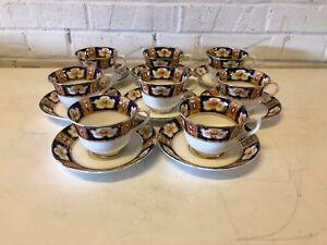 Ancien Royal Albert Angleterre Porcelaine Ensemble De 8 Tasses Et Soucoupes