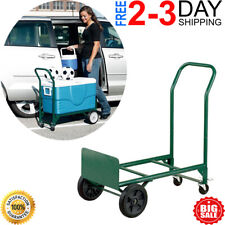 Convertible Hand Truck Dolly Wheels Stair Climbing Warehouse Moving Cart Trolley
