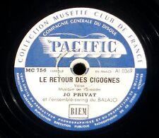 Jo Privat Le petit bal du samedi soir Retour cigognes  25 cm / 10 ''  78 RPM  EX