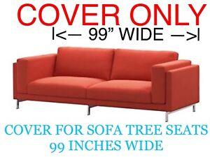"IKEA NOCKEBY Sofa COVER SLIPCOVER (3 Seat (99""))  RISANE ORANGE NEW"