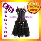 066 Sexy Burlesque Moulin Rouge Corset Skirt 8 10 12 14