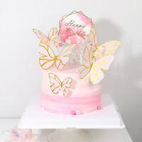 5st Pink Butterflies Tortenfiguren Cake Toppers Kid Geburtstag Baby Shower Dekor