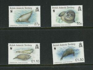 B530  B.A.T.   Crabeater seals    fauna   4v.      MNH