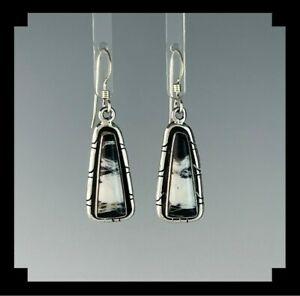 Native American Sterling and White Buffalo Earrings