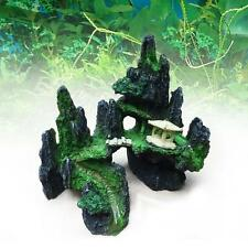 1x Underwater Resin Rockery Cave Aquarium Tank Ornament Decoration Pavilion A GA