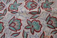 5 Yard Indian Sanganeri Running  Hand Block Print Pure Cotton Fabric Gift Loose