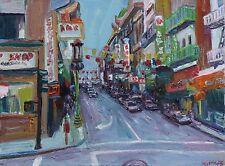 Chinatown San Francisco  Oil Impressionism Landscape 12x16