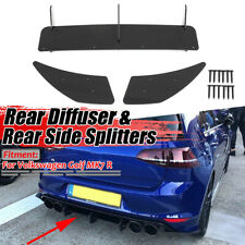 For Volkswagen VW GOLF 7 MK7 R 14-17 Rear Bumper Lip Diffuser Spoiler Splitter