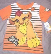 tee shirt neuf etiqueté disney  la garde simba roi lion taille 4 ans orange