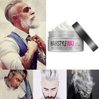 HD_ KF_ 100g Unisex Silver Grey Dynamic Modelling Wax Hair Styling Mud Water Gel